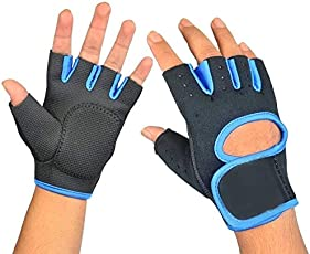 SkyWalk Unisex Gym Body Building Training Fitness Gloves Sports Weight Lifting Exercise Slip-resistant Gloves,Multicolor