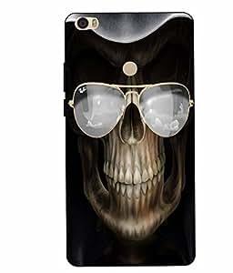 Case Cover Skull Printed Black Hard Back Cover For Xiaomi Redmi MI MAX