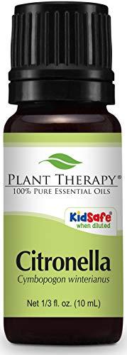 Citronella Essential Oil 10 mL (1/3 oz) 100% Pure, Undiluted, Therapeutic Grade - Essential Garden