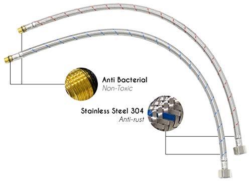 """Mizzo Design """"Arlori"""" – Edelstahl-Mischbatterie mit hohem Auslauf - 4"""