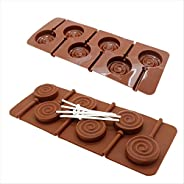 Yikuaigang New Lollipop mould bakeware chocolate molds cooking tools silicon ice Mould Tool Fondant Cake Decor