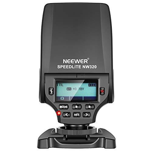 Neewer NW320 Mini TTL Speedlite Blitz Automatikblitz Kompatibel mit Sony MI Blitzschuh DSLR und spiegellosen Kameras A6000 A6300 A6500 A7...