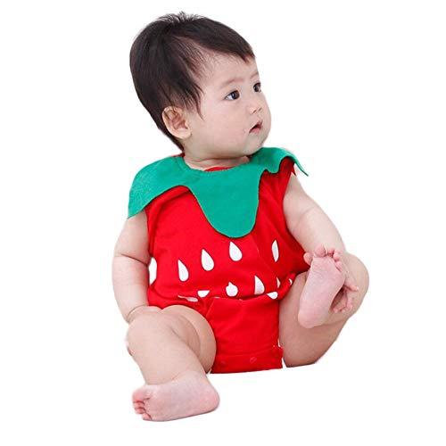 Für 15 Kostüm Gruppe - WangsCanis Baby Unisex Wassermelone Ananas Einteiler Babybekleidung Bodysuit bequemes Kostüm Strampler (12-18 Monate, Rot)