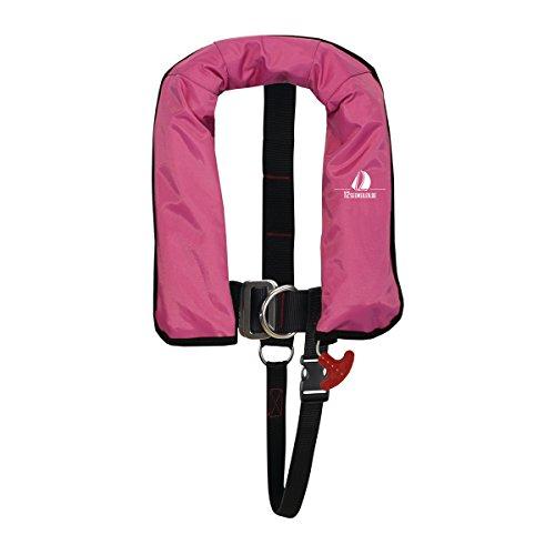 12skipper Kinder Kids Junior Automatik-Rettungsweste 150N ISO mit Harness | versch. Farben (Pink, 150N)