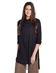 Wrangler Womens Button Down Shirt (W199539128YZ_Black_00M)