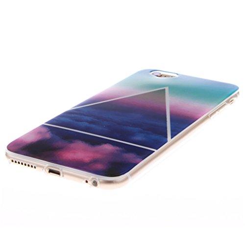 MYTHOLLOGY iphone 6 Plus Coque -5.5 pouce Coque Pour iphone 6 Plus /6s Plus, Silicone Doux TPU Protection Housse Cover Case Drapeau Nuage