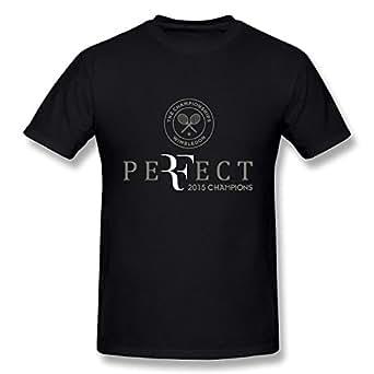 Joy Nicole Homme's Roger Federer 2015 Champions Wimbledon Perfect Logo T-Shirt XXXXL