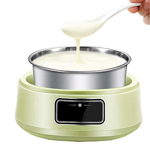 GSAGJsnj 1L Joghurtmaschine Frozen Yogurt Machine, Soja-Joghurt, Quark, leicht zu reinigen, frisch zubereiteter, bioaktiver Joghurt in der eigenen Küche, 185 * 195 mm
