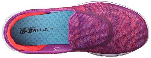 Skechers Go Walk 3 Glisten, Baskets Basses Femme Rose Pink (Pnk)