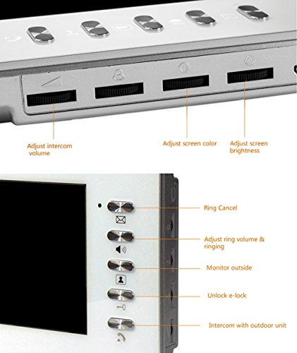 "Amocam 7"" Video Intercom System Video Door Phone 1-Camera IR Night Vision Waterproof 1-TFT Monitor Access Control 2-way Hands Free intercom"