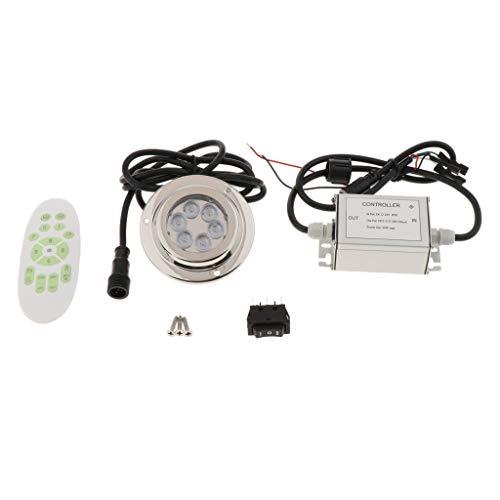 Shiwaki IP68 Unterwasser Licht wasserdichte LED Lampe aus 316 Edelstahl Multi Farbwechsel für Teichbeleuchtung Brunnen Fish Tank Hochzeit Party - Led-unterwasser-boot Lichter
