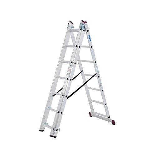 KRAUSE Corda Alu VielzweckLeiter 3x7 3x9 3x11 Sprossen Stehleiter Schiebeleiter, Sprossenzahl:3 x 7 Sprossen (Vielzweckleiter)