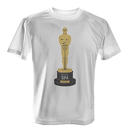 Fashionalarm Herren T-Shirt - Oscar - Der beste Opa der Welt | Fun Shirt mit Spruch als Geschenk Idee für ausgezeichnete Großväter Weiß