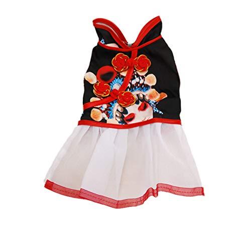 Mode Weihnachten Halloween Cute Kleid Frühjahr Sommer Modern Unique Dress Hunde Hochzeit Kleidung Luxus Princess Tang Anzug Nice Retro Stickerei Neujahr Kostüm ()