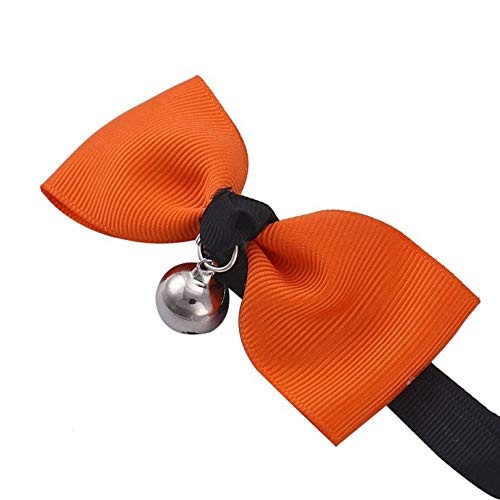 CVXBZB Adjustable Dog Cat Pet Bow Tie with Puppy Kitten Necktie Collar Pet Supplies Accessories,orange