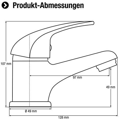 CON:P PICCOLO Waschtisch-Einhebelmischer, chrom, SA840 - 2
