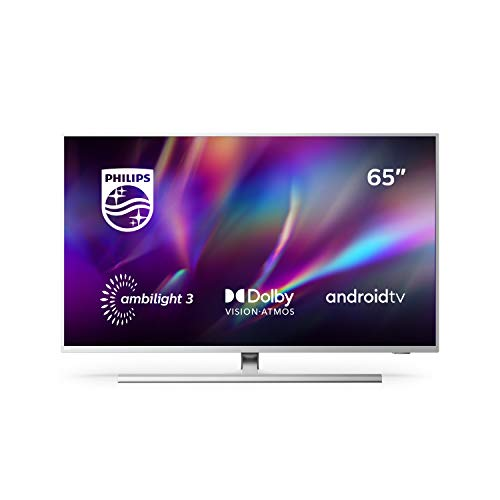 Oferta de Philips 65PUS8505/12 Ambilight , Smart TV de 65 pulgadas (4K UHD, P5 Perfect Picture Engine, Dolby Vision, Dolby Atmos, Control de voz, Android TV), Color plata claro (modelo de 2020/2021)