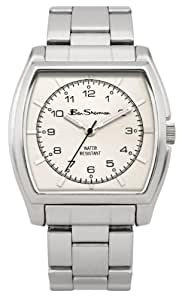 Ben Sherman Men's Quartz Watch with White Dial Analogue Display and Silver Bracelet BS036