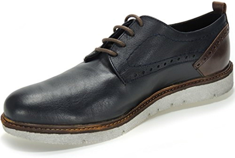 Casual. Zapato Casual Urbano con Cordones y Piso Blanco para Hombre - Modelo 26014 -