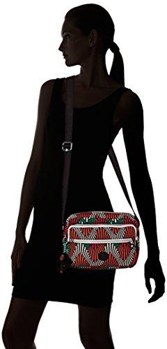 Kipling - Deena, Borsa a tracolla Donna Multicolore (Multicolour (Tropic Palm Ct))