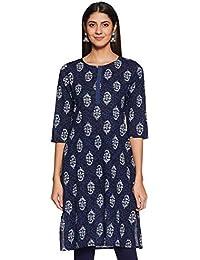 Amazon Brand - Tavasya Women's Cotton Straight Kurti