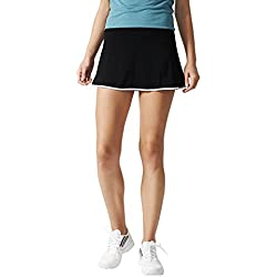 adidas Aspire Skort Falda de Tenis, Mujer, Negro/Blanco, M