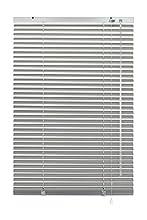 GARDINIA Veneziana in alluminio, Visibilità, Protezione dalla luce e ai raggi solari, Fissaggio al muro e al plafone, Kit di montaggio incluso, Argento, 100 x 130 cm (LxA)