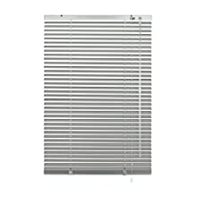 Deco Company aluminum blind for clamping, visual, light and glare protection, all assembly parts included, aluminum blinds, silver, 65 x 130 cm (WxH)