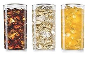 Apex Plastic Family Glass, Set of 6, Multicolour