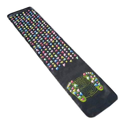 OUNONA Tappetino Pietra da massaggio per agopressione Plantare Massaggiatore Piedi 175 x 35 cm