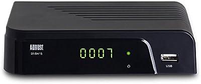 August DVB415 – Sintonizador TDT HD – Receptor DVB-T/T2 con Reproductor Multimedia, salida Coaxial Digital de Audio y HDMI – Grabador PVR USB de Televisión