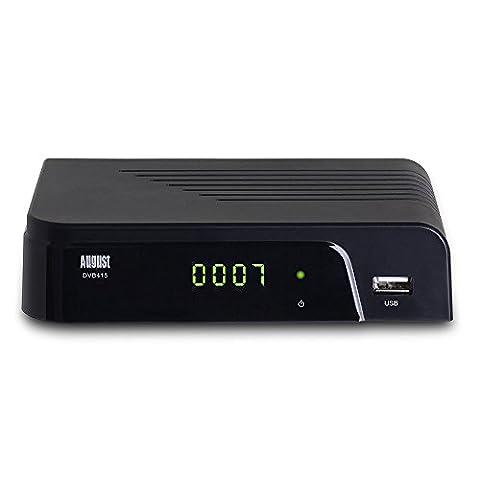 August DVB415 Décodeur TNT HD (MPEG4 / H.264) - Boitier