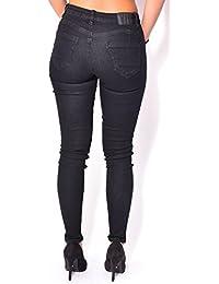 Jeans skinny noir à patchs