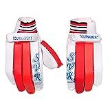 SVR Cricket-Handschuhe für Herren, Weiß, Rot, 2 Stück