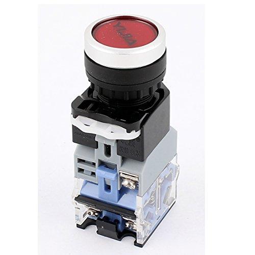 220VAC Rotlicht-LED-Anzeige Flachdruck Botton Schalter 600VAC 10A
