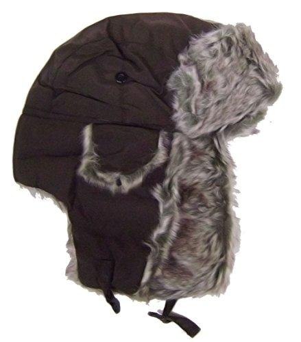 modestone-warm-trapper-bomber-hat-faux-fur-trim-o-s-chocolate-brown