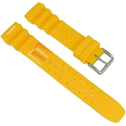 Diver Strap Replacement Band Watch Band Diver waterproof 20mm yellow 18081S