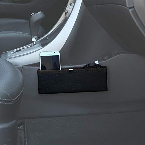 Black without Cupholder Car Organizer KMMOTORS Coin Side Pocket Console Side Pocket