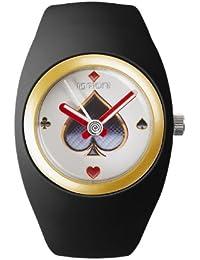 IoIon BU-BLK05 - Reloj unisex, correa de silicona color negro