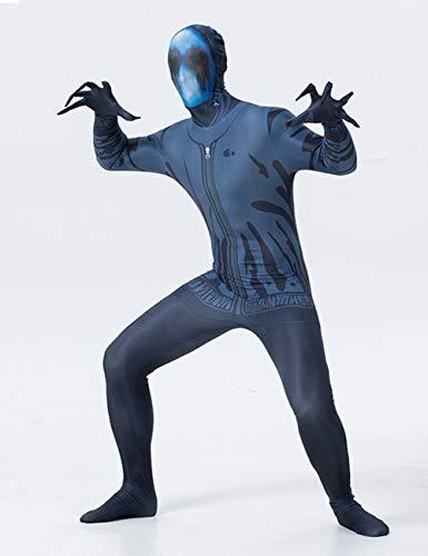 TUTOU Halloween erschreckende Requisiten, Frauen und Männer erschreckende Cosplay All-Inclusive-Maske Strumpfhosen Blutungen Mann Zombie Kostüm,XXL (Zombie Mann Kostüm)