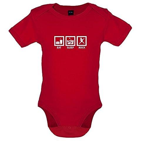 Eat Sleep Rock - Lustiger Baby-Body - Rot - 6