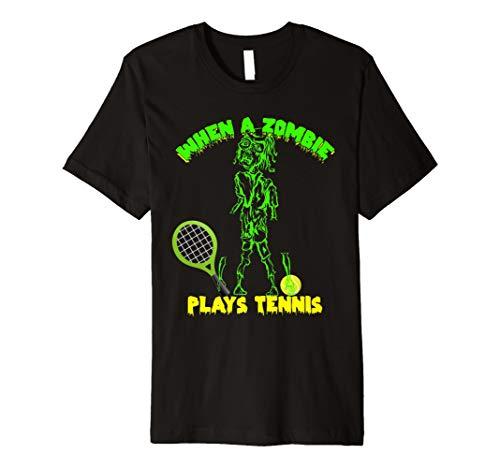Wenn ein Zombie spielt Tennis T-Shirt Trick Or Treat