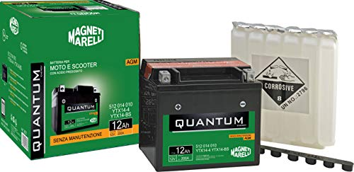 Batteria Quantum-Marelli 12ah Agm C/Acido-S/Manutenzio