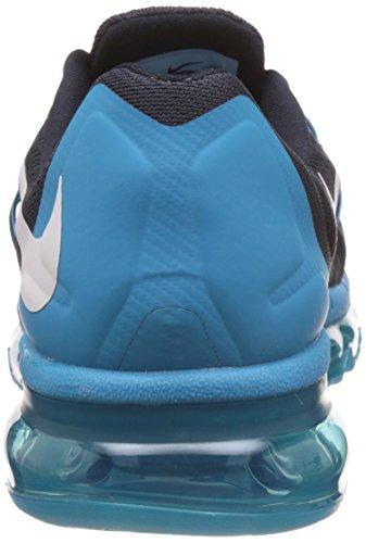 Nike Air Max 2015, Running Entrainement Homme Dark Obsidian/White-Blue Lagoon-Copa
