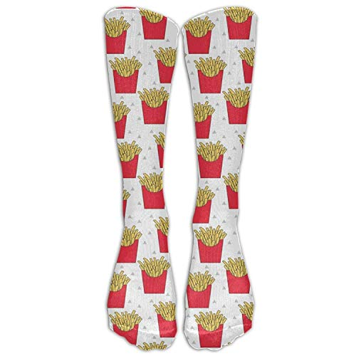ruishandianqi French Fries Athletic Tube Stockings Women's Men's Classics Knee High Socks Sport Long Sock One Size