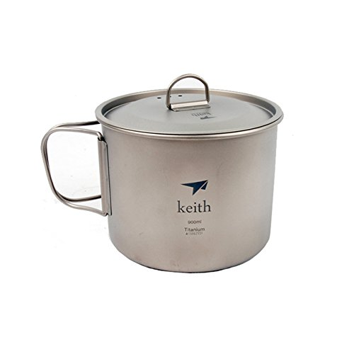 Keith ti3209 Titan Tasse Ultralight Single Wand Vakuum Wasser Tasse Camping Tools 900 ml