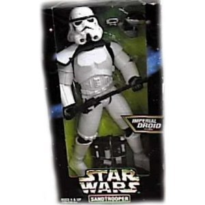 Star Wars 1997 Action Collection 12 Inch Action Figure - Sandtrooper with Imperial Droid by Kenner (English Manual)