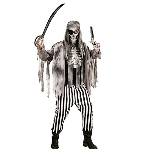 ten Kostüm Geisterkostüm Pirat M 50 Halloweenkostüm Geist Horror Zombiekostüm Halloween Verkleidung Seeräuber Piratenkostüm Herren ()