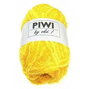 UTE - Pelote de laine à tricoter PIWI - Cheval Blanc - Jaune 608