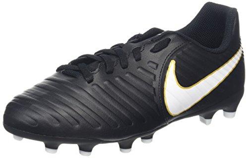Nike Unisex-Kinder Jr. Tiempo Rio IV FG Fußballschuhe, Schwarz (Black/White/Black), 37.5 EU (Schuhe Schwarz Rio)